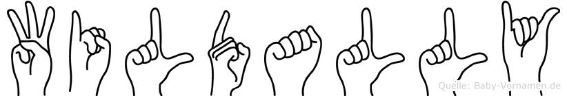 Wildally in Fingersprache für Gehörlose