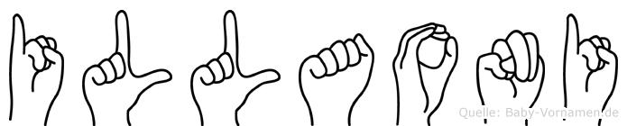 Illaoni im Fingeralphabet der Deutschen Gebärdensprache