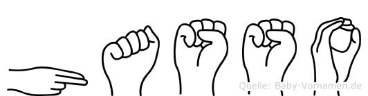 Hasso in Fingersprache für Gehörlose