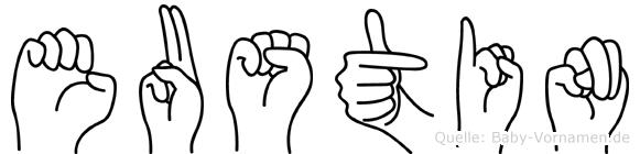 Eustin in Fingersprache für Gehörlose