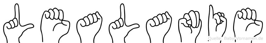 Lealanie im Fingeralphabet der Deutschen Gebärdensprache