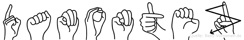 Damontez in Fingersprache für Gehörlose