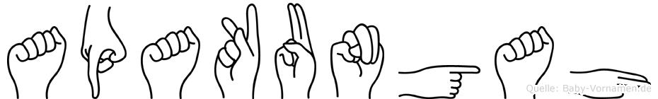 Apakungah in Fingersprache für Gehörlose