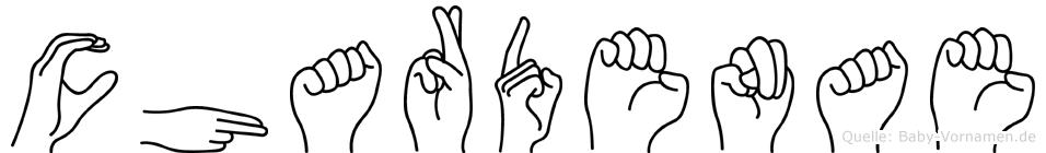 Chardenae in Fingersprache für Gehörlose
