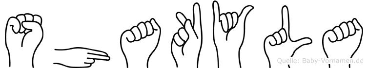 Shakyla in Fingersprache für Gehörlose