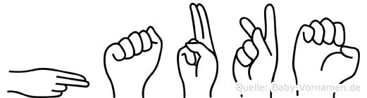 Hauke in Fingersprache für Gehörlose