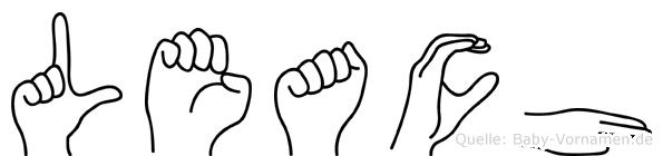 Leach in Fingersprache für Gehörlose