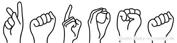 Kadosa im Fingeralphabet der Deutschen Gebärdensprache