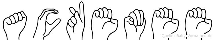 Ackemee in Fingersprache für Gehörlose
