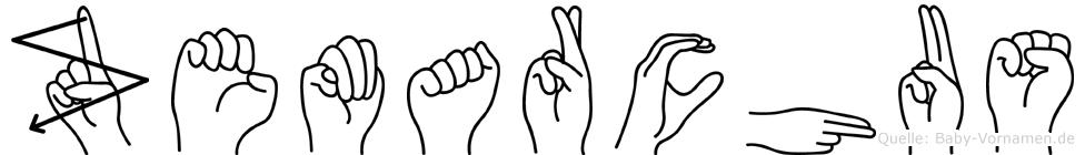 Zemarchus in Fingersprache für Gehörlose