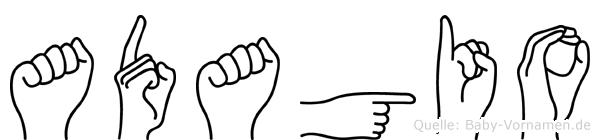 Adagio in Fingersprache für Gehörlose