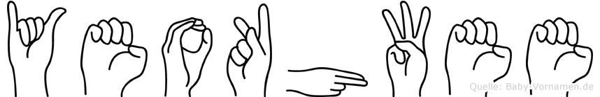 Yeokhwee im Fingeralphabet der Deutschen Gebärdensprache