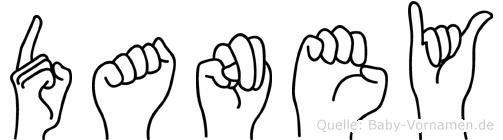 Daney in Fingersprache für Gehörlose