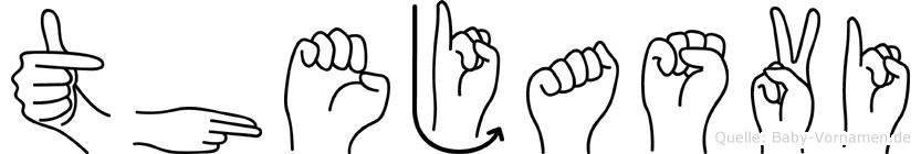 Thejasvi in Fingersprache für Gehörlose