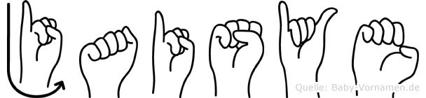 Jaisye in Fingersprache für Gehörlose