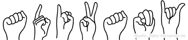 Adivany in Fingersprache für Gehörlose