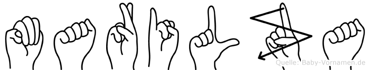 Marilza im Fingeralphabet der Deutschen Gebärdensprache