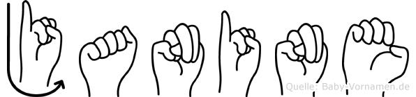 Janine im Fingeralphabet der Deutschen Gebärdensprache