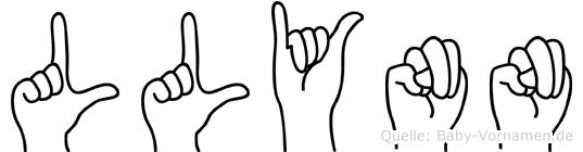 Llynn in Fingersprache für Gehörlose