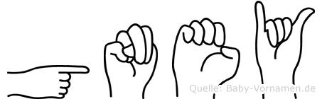 Güney im Fingeralphabet der Deutschen Gebärdensprache