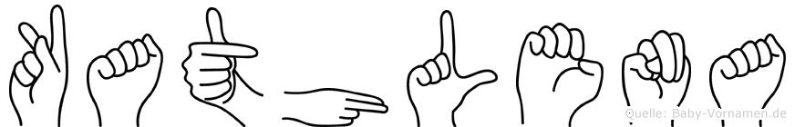 Kathlena im Fingeralphabet der Deutschen Gebärdensprache
