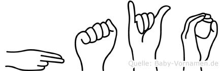 Hayo in Fingersprache für Gehörlose