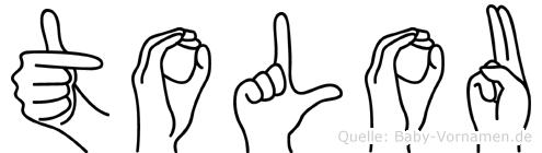 Tolou im Fingeralphabet der Deutschen Gebärdensprache