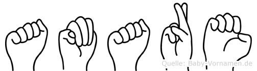 Amare in Fingersprache für Gehörlose