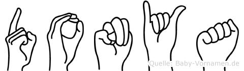 Donya im Fingeralphabet der Deutschen Gebärdensprache