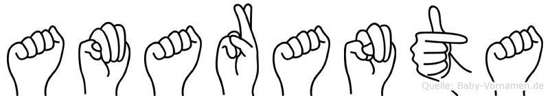 Amaranta in Fingersprache für Gehörlose