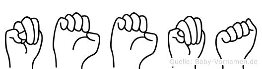 Neema im Fingeralphabet der Deutschen Gebärdensprache
