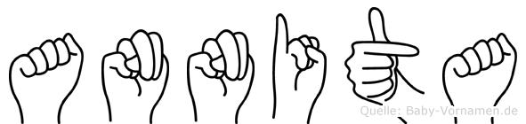 Annita im Fingeralphabet der Deutschen Gebärdensprache