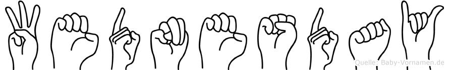Wednesday in Fingersprache für Gehörlose