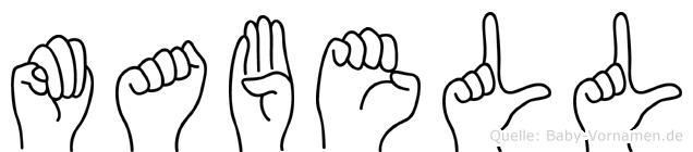 Mabell im Fingeralphabet der Deutschen Gebärdensprache