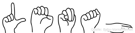 Lenah in Fingersprache für Gehörlose