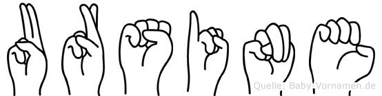 Ursine im Fingeralphabet der Deutschen Gebärdensprache