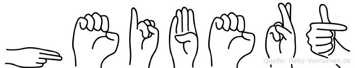 Heibert in Fingersprache für Gehörlose