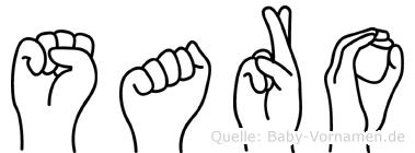 Saro in Fingersprache für Gehörlose