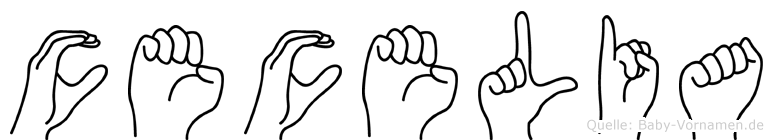 Cecelia in Fingersprache für Gehörlose