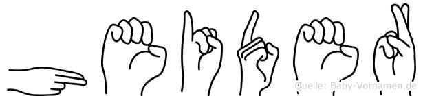 Heider im Fingeralphabet der Deutschen Gebärdensprache
