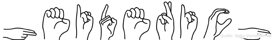Heiderich in Fingersprache für Gehörlose