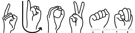 Djovan in Fingersprache für Gehörlose