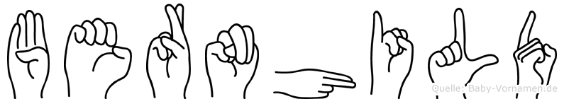 Bernhild in Fingersprache für Gehörlose