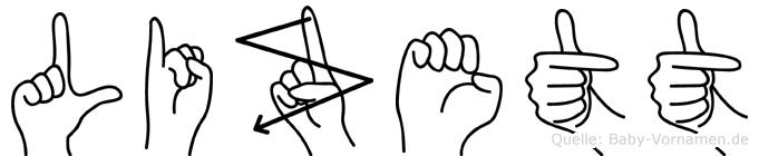 Lizett in Fingersprache für Gehörlose