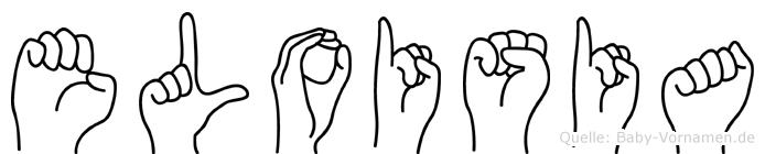 Eloisia im Fingeralphabet der Deutschen Gebärdensprache