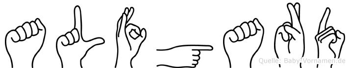 Alfgard in Fingersprache für Gehörlose