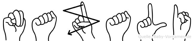 Nazali in Fingersprache für Gehörlose