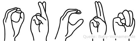 Orcun in Fingersprache für Gehörlose