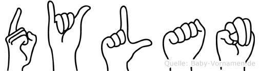 Dylan in Fingersprache für Gehörlose