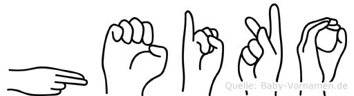 Heiko in Fingersprache für Gehörlose